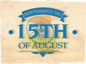 picture of indian independence day  - Vintage poster - JPG