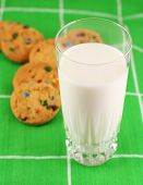 Milk And Cookies, Focus On Milk