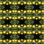 foto of mandarin orange  - Japanese orange seamless pattern background - JPG
