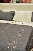 foto of comfort  - Comfortable looking pillows and bed - JPG