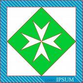image of maltese-cross  - Logo for Church - JPG