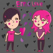 image of emo-boy  - Emo love - JPG
