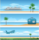 picture of cruise ship  - Three travel backgrounds - JPG