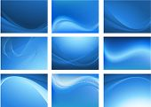 picture of blue  - Blue abstract vector background - JPG
