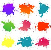 splat pintura colorida