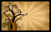 foto of tawdry  - abstract graphic old rusty antique paper background - JPG