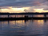 Light Reflections On Lake