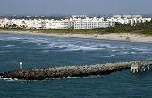 Shore Scene In Cape Canerval Florida