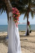 beach wedding ceremony site