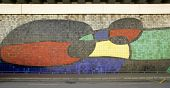 Mosaic Of Joan Miro. Barcelona