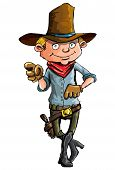 picture of sixgun  - Cartoon cowboy with sixguns  - JPG