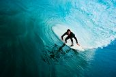 Surfer on Perfect Wave in the Barrel, Epic Tube