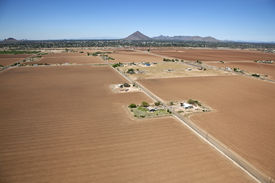 stock photo of pima  - Aerial view of Salt River Pima Maricopa Indian farm land - JPG