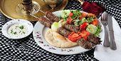 Shish kebab.