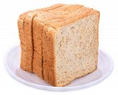 Sliced Bread Isolated On White Background Sliced poster