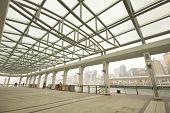 it is a steel roof of dock in hong kong
