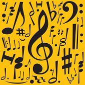 Music Notes (editable vector) - also available rasterized jpeg in this gallery