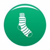 Man Sock Icon. Simple Illustration Of Man Sock Vector Icon For Any Design Green poster