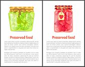 Preserved Food Poster Lime Or Lemon And Strawberries Home Cooked Jam Or Marmalade In Small Glass Jar poster
