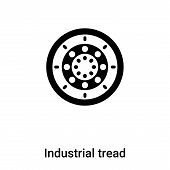 Industrial Tread Icon In Trendy Design Style. Industrial Tread Icon Isolated On White Background. In poster
