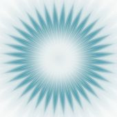Blue Star Burst Abstract