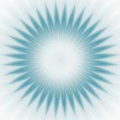Blue Star Burst Abstract
