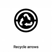 Recycle Arrows Icon In Trendy Design Style. Recycle Arrows Icon Isolated On White Background. Recycl poster