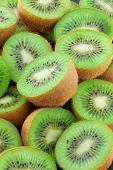 Food Kiwi Fruit slices. Close-up .