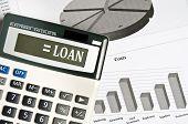 Loan word on electronic calculator