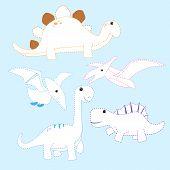 Dinosaur Line Drawing Vector Design For Kid, Dinosaur Page Coloring Vector Design poster