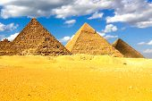 Pyramids Of Giza. Great Pyramids Of Egypt. The Seventh Wonder Of The World. Ancient Megaliths poster