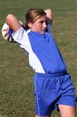 Youth Soccer Player Ready To Throw Ball