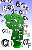 foto of carbon-footprint  - An illustration of an expression - JPG