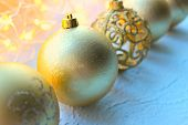 Beautiful Christmas Card, New Year. Golden Christmas Background. The Golden Decoration Christmas Bal poster
