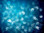 Flickering Blue Lights | Christmas Background