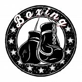Vector Drawing Of A Boxing Glove. Boxer. Inscription - Boxing. Illustrations For T Shirt Print. Cool poster