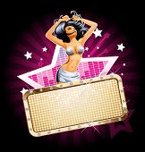 stock photo of showgirl  - Vector party background for design - JPG
