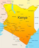 Abstract vector color map of Kenya country