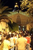 NAZARETH, ISRAEL - SEPTEMBER 30: Every Friday procession goes through the streets of Nazareth, from the Church of St. Joseph to the Basilica of the Annunciation, Nazareth, Israel on September 30,2006.