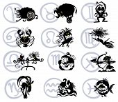 Zodiac Silhouettes.