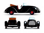 Cartoon Black Car