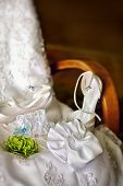 stock photo of garter-belt  - Wedding dress - JPG