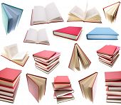 Books isolated on plain background.