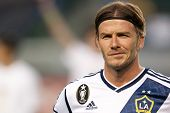 CARSON, CA - MARCH 14: David Beckham during the CONCACAF match between the LA Galaxy and Toronto FC