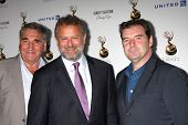 LOS ANGELES - SEP 21:  Jim Carter, Hugh Bonneville, Brendan Coyle arrives at the Primetime Emmys Performers Nominee Reception at Spectra by Wolfgang Puck on September 21, 2012 in Los Angeles, CA