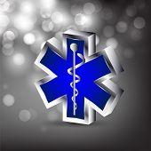 Abstrato médico com médicos símbolo de caduceu 3D. EPS 10.