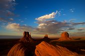 Monument Valley Utah At Sunset poster