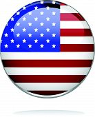 illustrated image of a badge with stars and stripes