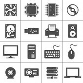 stock photo of cpu  - Computer Hardware Icons - JPG