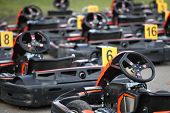 stock photo of karts  - The image of go - JPG